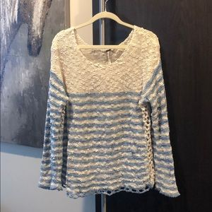 Free people blue and cream striped sweater